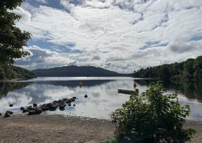 Hazlewood Triathlon 2021 lake view